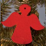 Filzanhänger Weihnachtsengel - 100 % Wolle