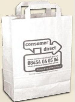 Recycling Papier - Tragetasche groß (32x40x11cm) | weiß