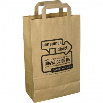Recycling Papier - Tragetasche klein (22x36x11) | braun