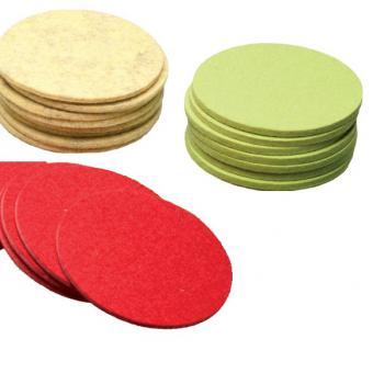 Tassenuntersetzer rund- 100 % Wolle