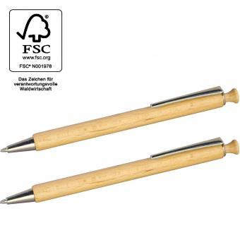 Kugelschreiber -  FSC®-zertifiziertes Buchen-Holz