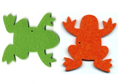 "Filzanhänger ""Frosch"" - 100 % Wolle"