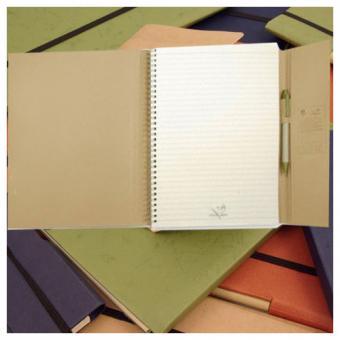 DIN A4 Notizblock im Umschlag +  Kuli