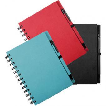 Notizbuch DIN A6 - versch. Farben, recycelt