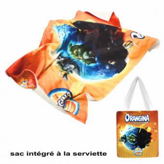 2-in-1 Handtuch mit Strandtasche TERRY