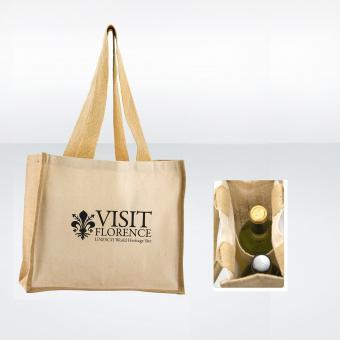Shopper mit Flaschenfach (36x32x18cm)