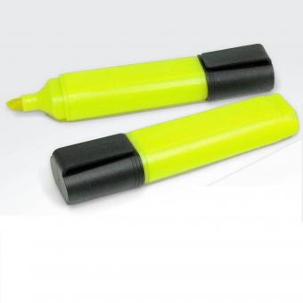 Recycling Textmarker / Highlighter gelb/schwarz