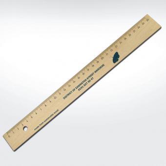 Werbeartikel: Holzlineal 30 cm