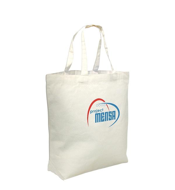Stabile Canvas Tasche mit kurzen Henkeln