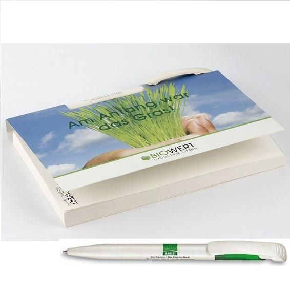 Recycling Memo Set inkl. Kugelschreiber