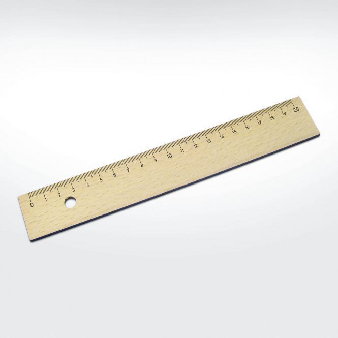 Werbeartikel: Holzlineal 20 cm