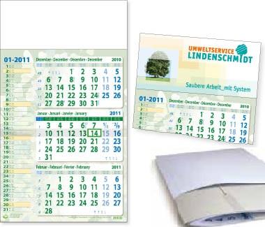 Eco Memo, 3-Monats Recycling Wandkalender