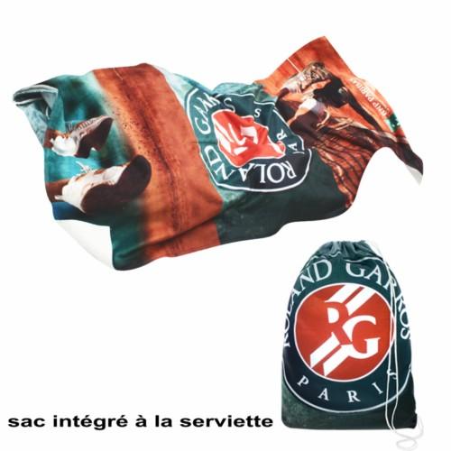 2-in-1 Handtuch mit Turnbeutel aus Polyester