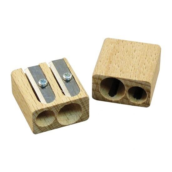 Werbeartikel Holzspitzer - zweifach