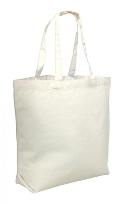 Stabiler Canvas Shopper, mittellange Henkel