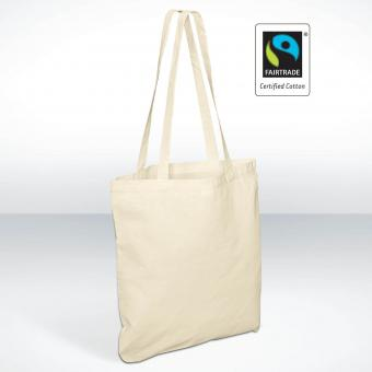 Fair Trade Baumwolltasche, langer Henkel